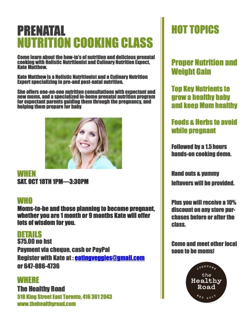 prenatal cooking class