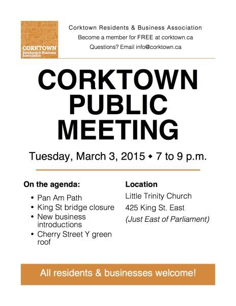 Corktown Meeting Poster - March 2015a