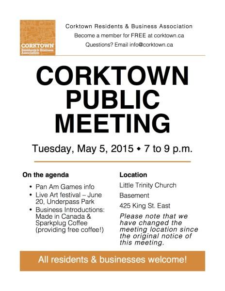 Corktown Meeting Poster - May 2015-mon-update