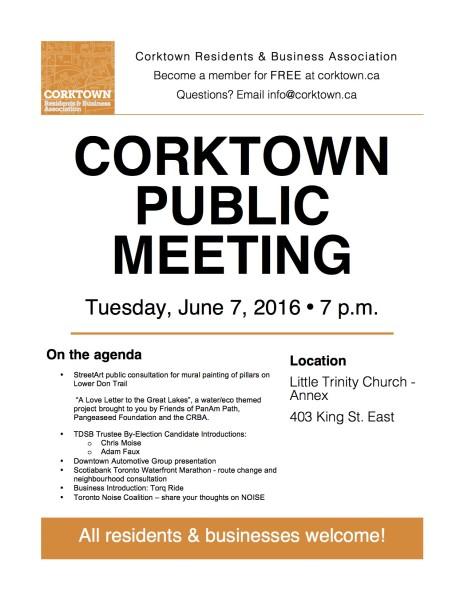 Corktown Meeting Poster - June 2016