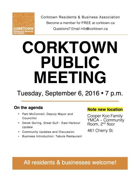 Corktown Meeting Poster - September 2016