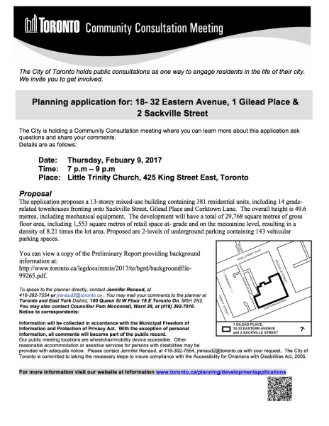 18 Eastern Ave - Community Consultation