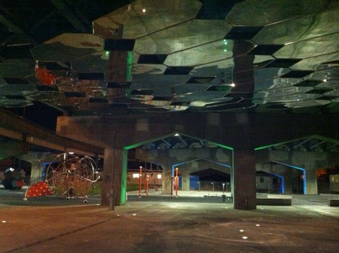 Underpass Park at night