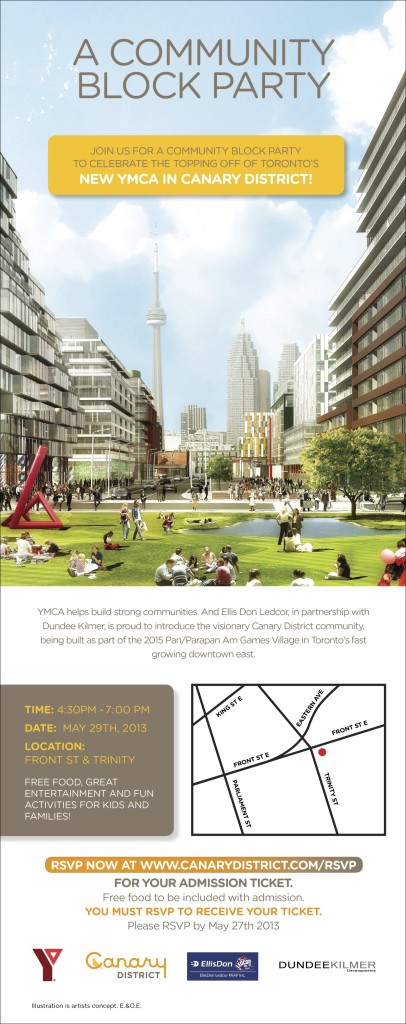 Canary District and YMCA Block Party May 29th