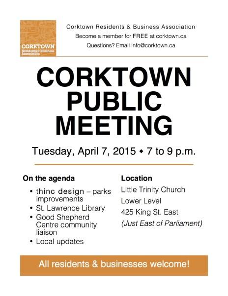 Corktown Meeting Poster - April 2015