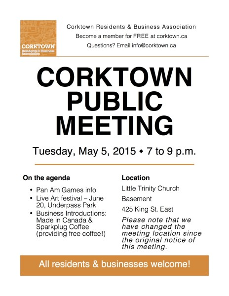 Corktown Meeting Poster - May 2015-mon-update