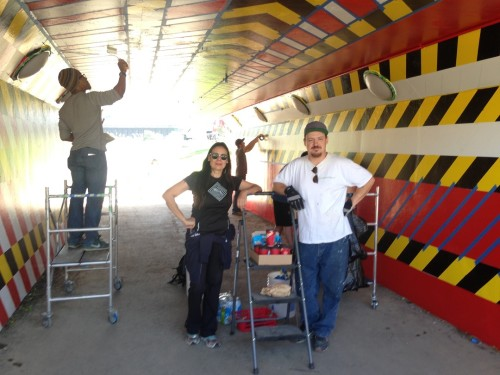BalaUnderpass-Mural-Souliere-with-assistants