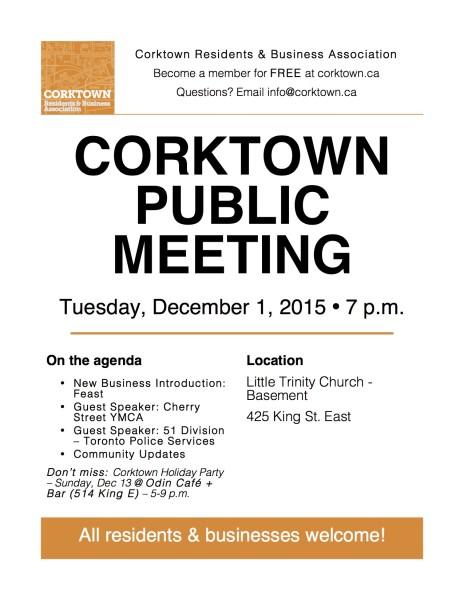 Corktown Meeting Poster - Dec 2015